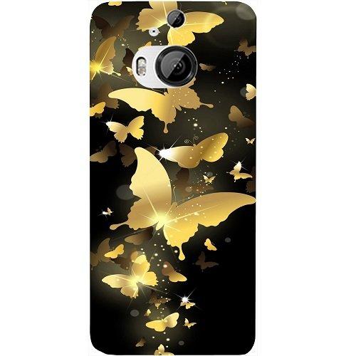 Casotec Golden Butterfly Pattern Design Hard Back Case Cover for...
