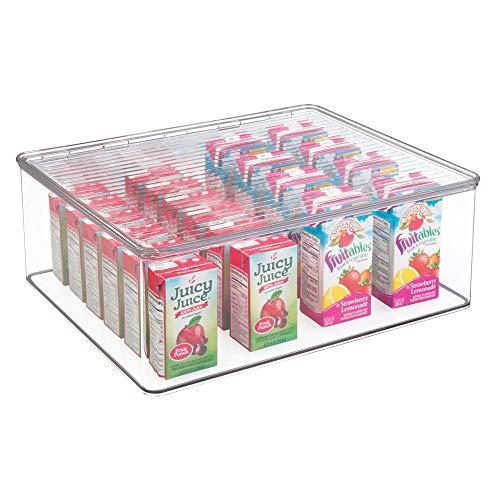Mdesign contenitore plastica con coperchio - scatola trasparente per conservare alimenti e accessori in cucina, nell'armadio, sugli scaffali