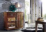 Mobili in Legno massello laccato legno Ferro Legno antico stile industriale Cassettiera legno massello legno mobili Freezy #08