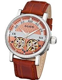 AUER Classic Collection BA-511-RSBrL Reloj Automático para hombres 2 volantes abiertos