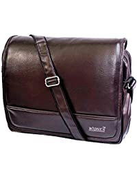 """Stylish 15.5"""" Faux Leather Laptop Sleeve Messenger By-Widnes"""
