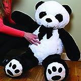 CLICK4DEAL Giant Stuffed/Spongy/Huggable Cute Panda Teddy Bear High Quality (4 Feet)