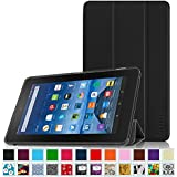 "Fintie Fire 7 2015 SmartShell Case - Ultra Slim Lightweight Standing Cover for Amazon Fire 7 Tablet (will only fit Fire 7"" Display 5th Generation - 2015 release), Black"