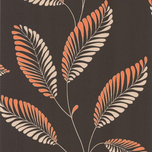decorline-dl30469-modern-leaf-trail-wallpaper-dark-brown