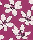 Vliestapete Blumen Geblümt Floral pink Tapete Rasch Prego 700107