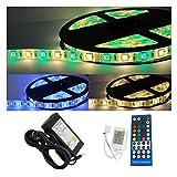 5-30m LED RGBW System Streifen Lichtband Set Fernbedienung IR Funk warmweiß (5m)