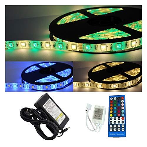 5-30m LED RGBW System Streifen Lichtband Set Fernbedienung IR Funk warmweiß (5m) 12v-ir-system