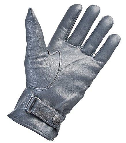 Geffütterte Lederhandschuhe Größe S - XXL in Schwarz oder Grau, Handschuhe Größen:XL / 10, Farbe :Grau