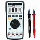 Multimeter Digital, SURPEER True RMS 4 1/2 Auto-range Voltmetro - Multi Meter Misurazione DC AC, Corrente, Ohm, Resistenza, Diodo, Temperatura, Continuità, Frequenza, Test di Campo Elettrico