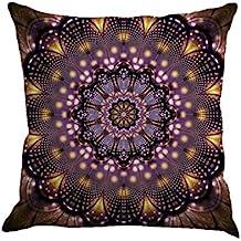 Funda de almohada de patrón geométrico,Subfamily®Funda de cojín de lino Throw Pillow