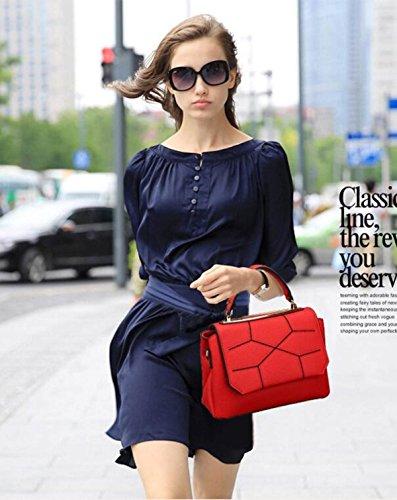 PU Leder Schulter Handtasche Elegantes Design Top Handle Fashion Handtaschen Für Frauen Red