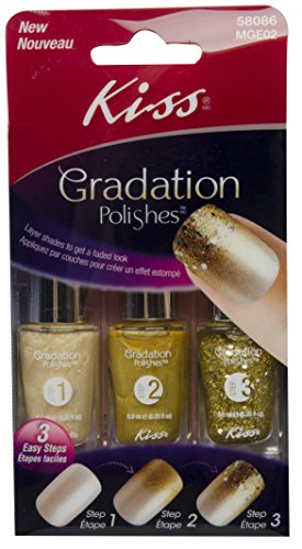 Kiss Gradation 'Exposure' In Gold Sparkle Tones Nail Polish Kit, 3 bottles by Kiss