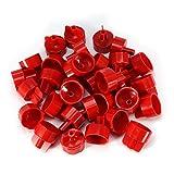 100 Stücke Kunststoff Boden Wand Fliesen Abstandhalter Band Fliese Nivelliersystem Werkzeuge Fliesen Leveler Spacer Clips für Wand und Boden(Red Cover)