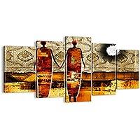 Cuadro sobre lienzo - 5 piezas - Impresión en lienzo - Ancho: 160cm, Altura: 85cm - Foto número 0659 - listo para colgar - en un marco - EA160x85-0659