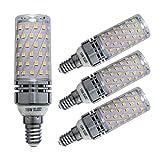 Sagel E14 LED Mais Birne, 15W LED Kerzenleuchter Glühbirnen 120 Watt Äquivalent, 1500lm, Warm Weiß 3000K LED Kronleuchter Lampen, Sockel E14, Nicht Dimmbare LED Lampe, 4er Pack