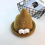 Wanglele La Hat L'Automne Et L'Hiver Hat Enfants Baby-Soft Yeux Knitting Hat Un Garçons Et Filles, Le Gingembre ,Jaune S (54-56Cm)