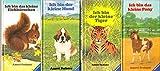 4 Ravensburger Minibücher: Ich bin das kleine Eichhörnchen; Ich bin das kleine Pony; Ich bin der kleine Tiger; Ich bin der kleine Hund.