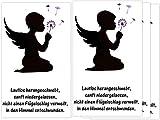 Sternenkind 4 Folien für Grablicht Kerze Trauerkerze Engel Pusteblume