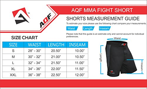 AQF-Combat-MMA-Shorts-UFC-Cage-Fighting-Grappling-Kick-Boxing-Gym-Short-4-Way-Stretch-Moisture-Wicking-Training-Shorts
