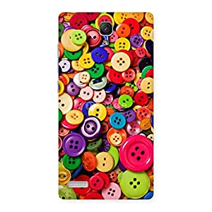 Enticing Button Lot Print Back Case Cover for Redmi Note