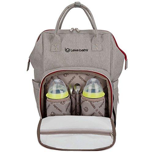 lekebaby Wickeln Rucksack mit Wickelunterlage für Reisen und den täglichen Gebrauch