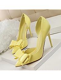 JF Zapatos de Tacón Dulce de Moda con Tacón Alto, Puntiagudo Y Puntiagudo en Los Zapatos Huecos,Mi,38