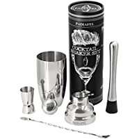 PADIAFEL Shaker Cocktail Professionnel Bar Shaker à Cocktail Set en inox 750ml Shaker Cadeau Parfait