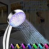 folowe Batterieloser 7 bunter LED-Licht-automatischer Farbwechsel Duschkopf Duscharmaturen