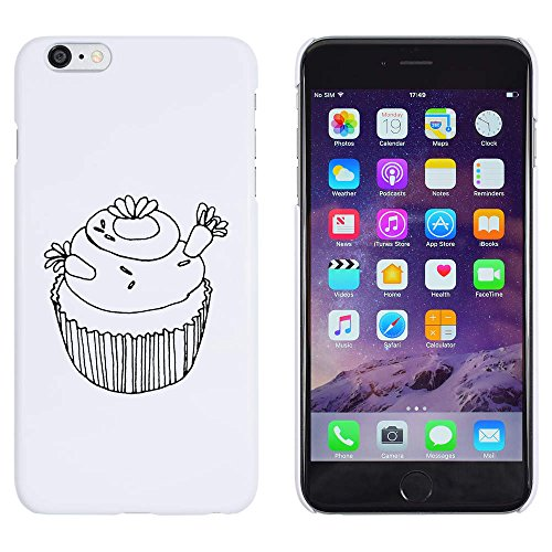 Azeeda Weiß 'Luxus Cupcake' Hülle für iPhone 6 Plus & 6s Plus (MC00161035) (Case Cupcake Iphone)