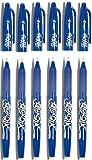 Pilot Blue Frixion Rollerball Erasable Pens Pen 0.7mm Nib Tip 0.35mm Line BL-FR7 (Pack Of 6)