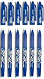 Pilot Blue Frixion Rollerball Erasable Pens Pen 0.7mm Nib Tip 0.35mm Line BL-FR7 (Pack Of 6)
