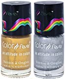 Best Cherry Nail Polish Sets - Color Fever Nail Gloss Polish Set, Gold/Silver, 17g Review