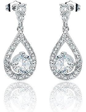 ELEGANCE PARISIENNE Modische Ohrringe 18k vergoldet Echt Silber 925 SWAROVSKI ELEMENTS Kristall Für Frauen Damen...