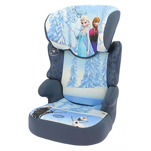 mycarsit Sitzerhöhung mit Rückenlehne Disney, Gruppe 2/3(von 15bis 36kg), Motiv Frozen Eiskönigin