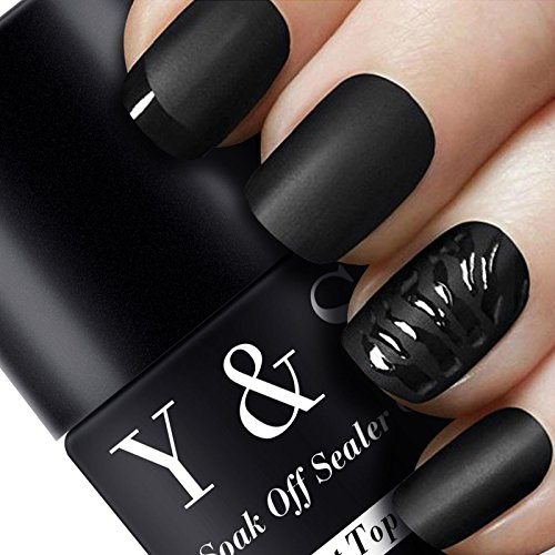 Y&S 6.5ml Effet Matt Top Coat Vernis à Ongles Semi Permanent UV LED Soak Off