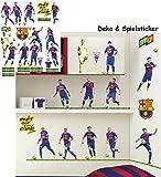 Unbekannt 38 Stück: Wandsticker _  Fußball Mannschaft - FCB - FC Barcelona - Fußballverein  - zum Spielen & als Deko - selbstklebend + wiederverwendbar - Aufkleber fü..