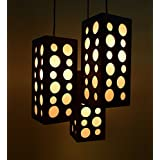 Modern Contemporary Design Wooden Square Shape Hanging Light. MADE IN INDIA 40-13