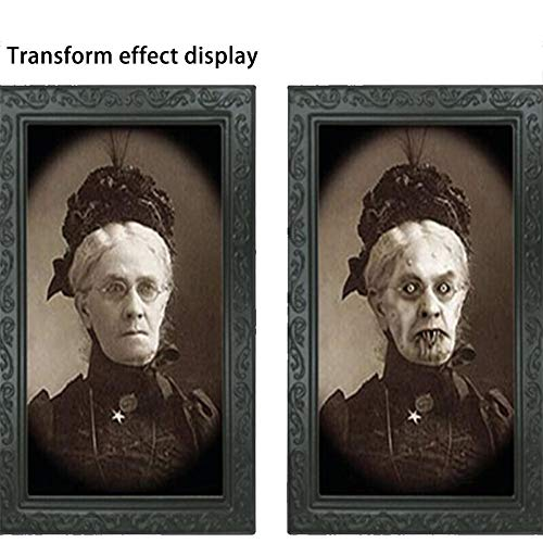 Diuspeed 3D, das Foto, 38 * 25CM mittlere Größe ändert 3D Gesichts-änderndes Foto mit Fotorahmen-Halloween-Stange frequentierte Haus-Stützen-Wand-Dekoration-Stadiums-Stützen