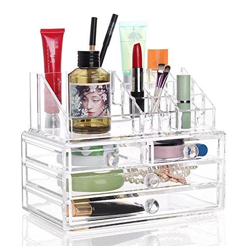 TuTu Boîte de rangement cosmétique / fournitures créatives boîte de rangement / boîte en plastique transparent grande (24 * 13.5 * 18.5cm)