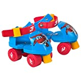 Super Wings - Patines ajustables, 16-20 cm, Jett (ColorBaby 77011)