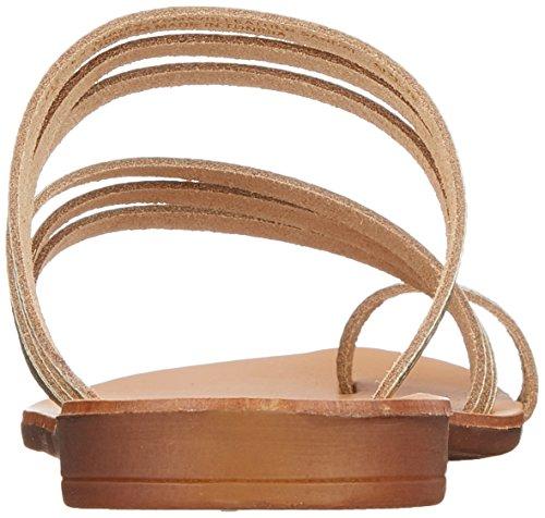 Pieces Psmavis Leather, Sandales Bout Ouvert Femme Or (Gold Colour)