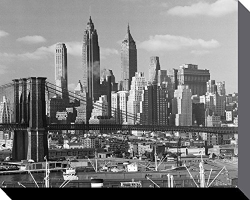 Lower Manhattan Skyline (Time Life - Lower Manhattan Skyline 1948 Leinwandbild Wandbild Bild 40 x 50 cm)