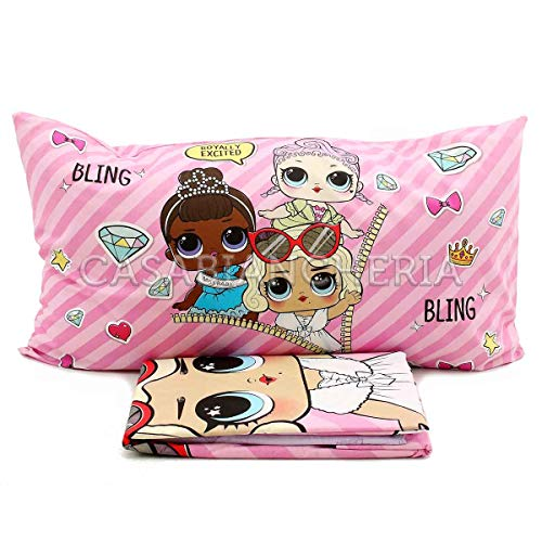 hermet Completo Lenzuola LOL Surprise Originale Letto Singolo 1 Piazza Cotone Cartoon