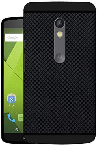 Hello Zone Soft Back Case For Motorola Moto X Play (Black)