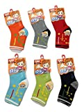 Camey Cotton Kids Socks (Ca0000105Bcs -Multicolour -3 to 4 Years) (Pack Of 6)