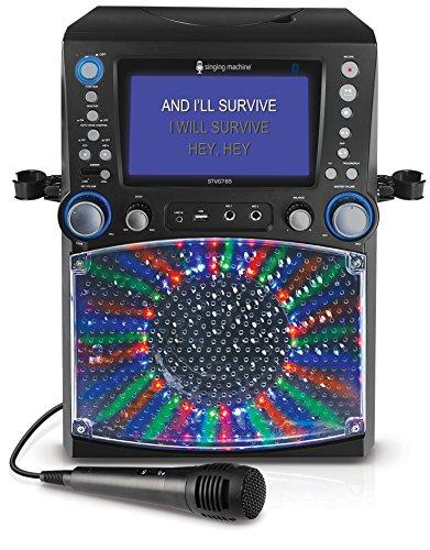 Preisvergleich Produktbild Singing Machine STVG785BTBK Karaoke mit 3 CD+G's schwarz