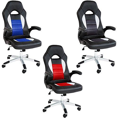 TecTake-Chaise-fauteuil-sige-de-bureau-rglable-ajustable-sportive-diverses-couleurs-au-choix