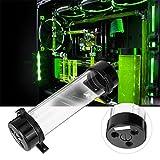 Asiproper 234mm Cylindre Réservoir d'eau de réservoir d'eau de refroidissement kit pour PC de refroidissement liquide Noir