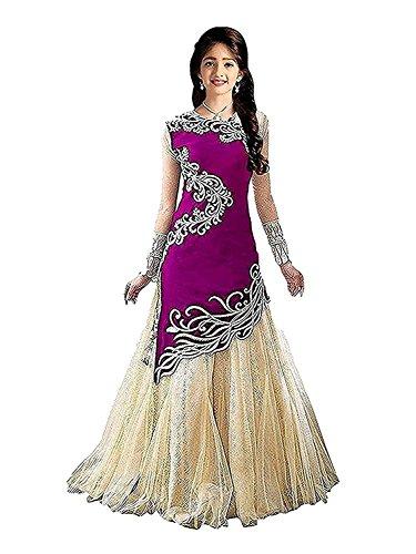 Yjack Creation Kid's Girl Velvet Semi-Stitched Ethnic Salwar suit Dresses (Free Size_8-12...