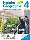 Mes fiches d'activité d'Histoire Géographie EMC 4ème